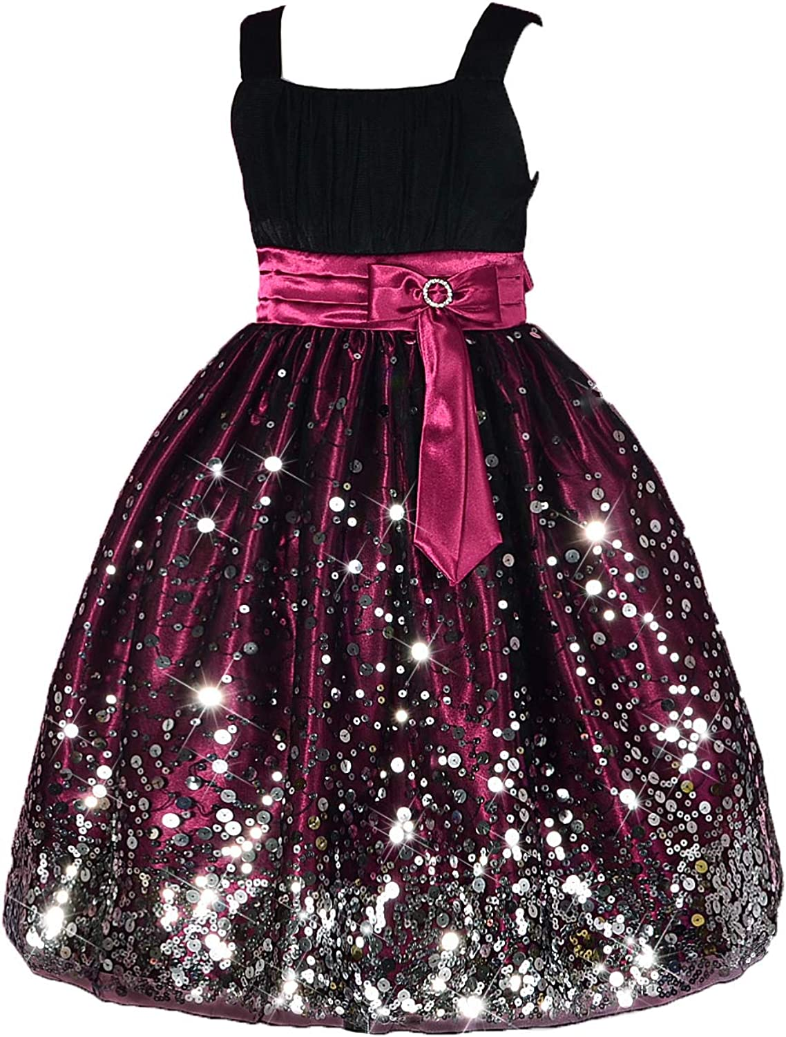 Dressy Daisy Girls' Sequined Pageant Dresses Occasion Birthday Party Prom Dress