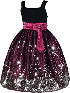 Dressy Daisy Girls' Flower Girl Wedding Dress Rich Sequined Pageant Party Dresses