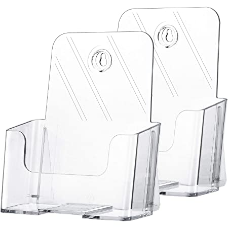 SOURCEONE.ORG Premium Counter Top Bifold 6-Inch Wide Acrylic Brochure Holder