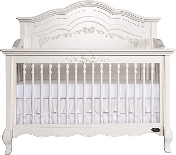 Evolur Aurora 5 In 1 Convertible Crib Ivory Lace