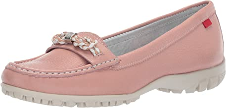 MARC JOSEPH NEW YORK Women's Golf Leather Made in Brazil Orchard Street Performance Loafer Moccasin, Geranium Grainy, 7.5