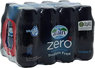 Al Ain Zero Liquid Water - 12 x 200 ml