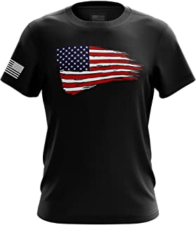Merica American Flag K9 Unit Military Army Mens T-Shirt Made in USA