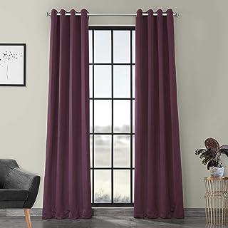 HPD Half Price Drapes BOCH-201301-84-GR Grommet Blackout Room Darkening Curtain (1 Panel), 50 X 84, Aubergine