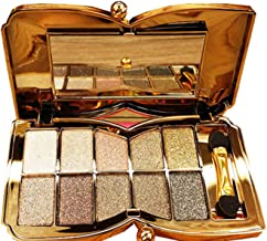 Glitter Eyeshadow Palette,10 Colors Sparkle Shimmer Eye Shadow Highly Pigmented Long Lasting Makeup Set Gold