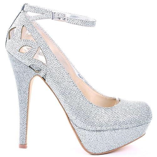 da59825cc60 Silver Stiletto Heels: Amazon.com