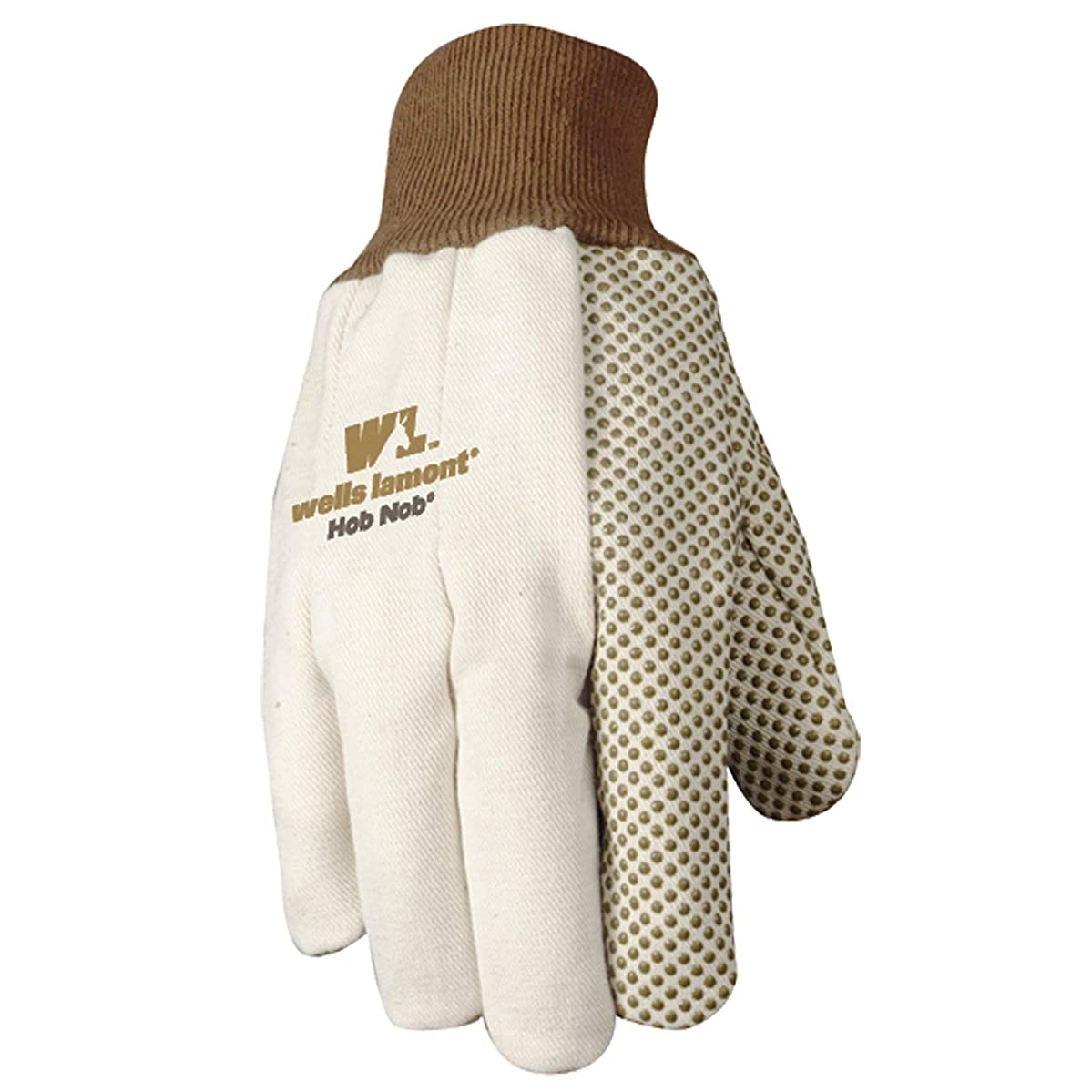 Wells Lamont Jersey Work Gloves with Hob Nob Dots, Wearpower, Basic, One Size (310)