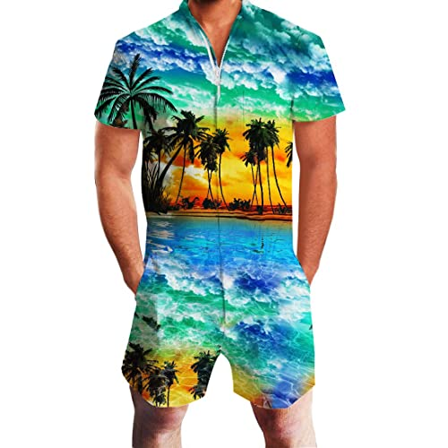 1c1c9991bae2 Uideazone Men Summer Shorts 3D Printed Bro Romper Jumpsuit One Piece Romper  Outfits