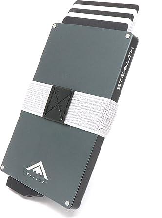 STEALTH Wallet RFID Korthållare - Minimalistiska NFC Blockerande Pop-up Plånböcker med Presentförpackning - Smala lätta Metallkorthållare och Kontaktlöst Skydd