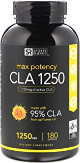 Sports Research CLA 1250, Max Potency, 1,250 mg, 180 Softgels