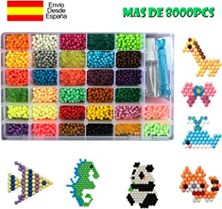 comprar comparacion shafier Abalorios Cuentas de Agua 8000 Perlas 32 Colors/Hama Beads/para Niños DIY Artesanía Juguetes Educativos DIY