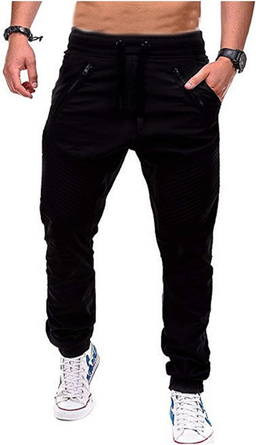 Mens Tapered Workout Running Pants High material Tulsa Mall Training Sweatpants S Jogger