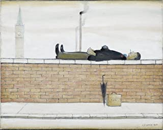 Berkin Arts L.S. Lowry Giclee Art Paper Print Art Works Paintings Poster Reproduction(Man Lying on a Wal)