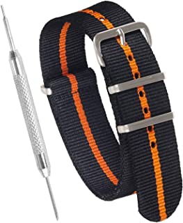 Sniper Bay NATO Strap Watch Strap – NATO Watch Straps for Men and Women with Military-Grade Nylon, Stainless Steel – 18mm, 20mm, 22mm, 24mm Wrist Strap Widths