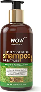 WOW Intensive Repair & Revitalize No Parabens, Sulphate & Silicone Shampoo, 300mL