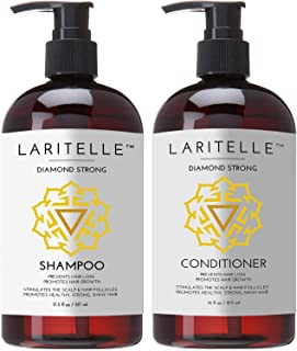 Sponsored Ad - Laritelle Organic Shampoo 17 oz + Conditioner 16 oz | Prevents Hair Loss, Promotes Hair Growth | Argan Oil,...