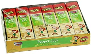 Keebler Snack Pack Sandwich Crackers, Pepper Jack, 12-Count