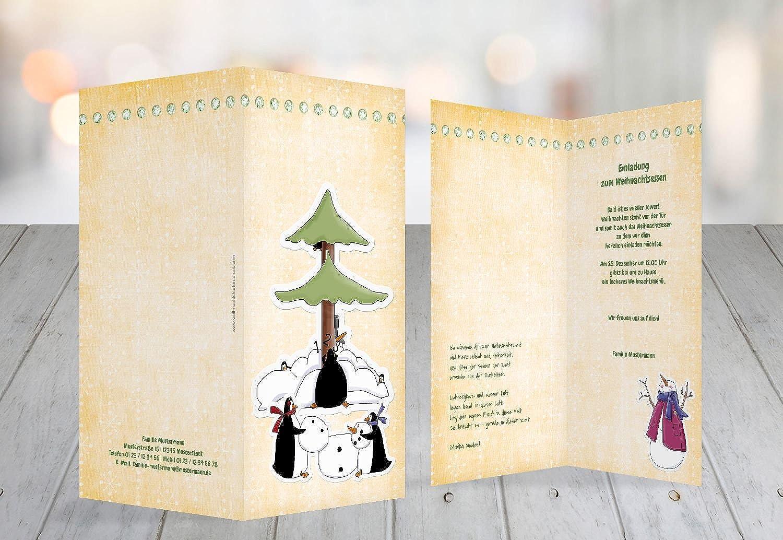 Kartenparadies Einladungskarte Einladungskarte Einladungskarte zu Weihnachten Einladung comic, hochwertige Weihnachtseinladung zum Selbstgestalten (Format  105x215 mm) Farbe  SoftGelbOrange B01N8RGOG3    | Verschiedene Stile  41bc9b