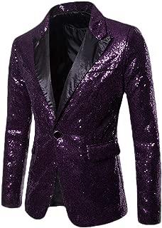Mens Fashion Suit Blazer Sequins Dress Coat Party Jacket Shiny Wedding Suit Blazer