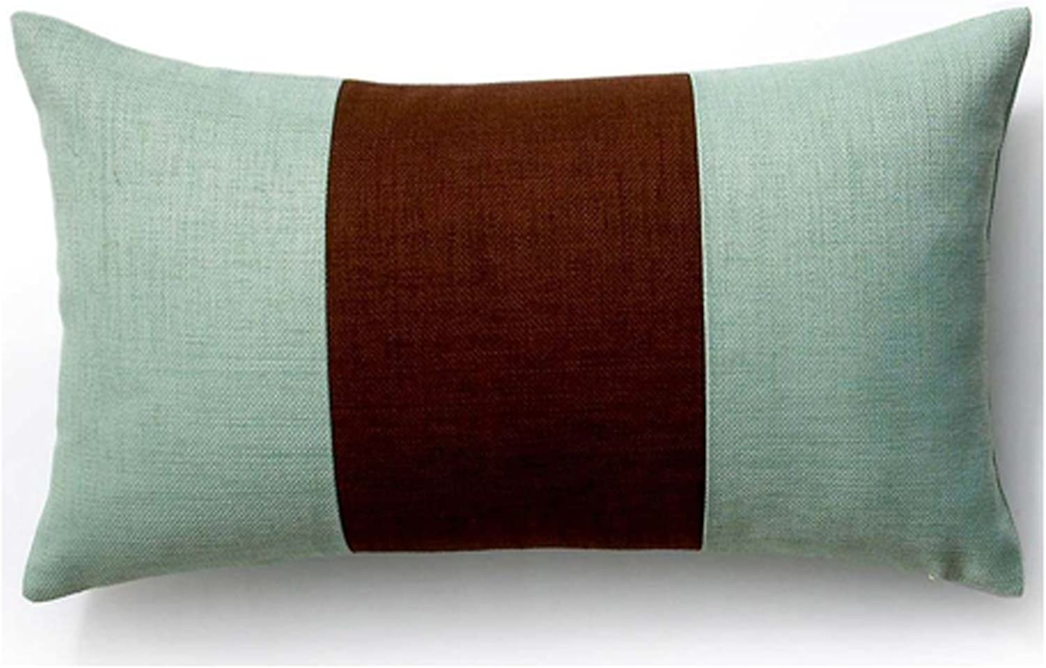 Jiti 1220-RBL-PCS-CH-MT Rebel Pieces Lumbar Pillow, 12 x 20, Chocolate Mint