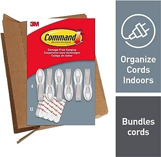 Command Gray Cord Bundlers, Indoor Use, Decorate Damage-Free, 6 bundlers, 12 strips (GP304-6NA)