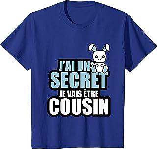 Enfant J'ai un secret je vais être cousin T-Shirt