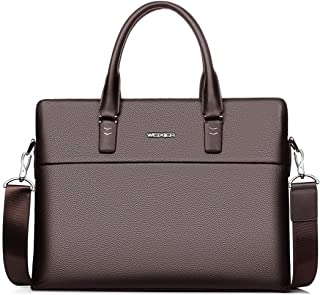 Men's Portable Business Briefcase, Leather One Shoulder Crossbody Head Leather Casual Men's Bag