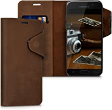 Case Compatible with Samsung Galaxy A5 (2017) - Genuine Leather Book Style Protective Cover with Card Slot -