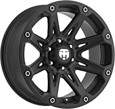 Trailmaster TM210-7973SB Alloy Wheel; Size 17X9; Bolt Pattern: 5X5; Max Load 2200 lbs.; Back Space 4.75 in.; Offset Negative 6mm; Finish: Satin Black;