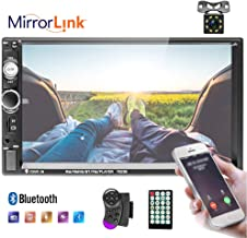"""$44 » Liehuzhekeji 7"""" Double Din Car Stereo Audio MP5 Player with Bluetooht/USB/FM Multimedia Radio/Steering Wheel Remote Support Mirror Link (Android 4.0-7.0) + 8 LED Backup Camera"""