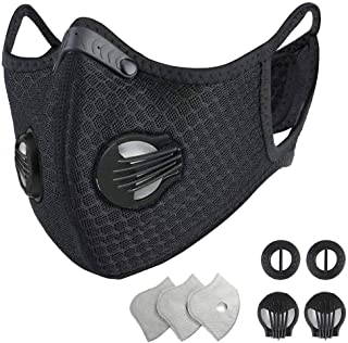 HONYAO Reusable Dust Face M Earloop Dust M, Protective M with Activated Carbon Filter and..