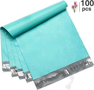 Fuxury 100 Pcs 10x13 Teal Poly Mailer Envelopes Embossed dots Design Shipping Bags with Self Adhesive Postal Bags