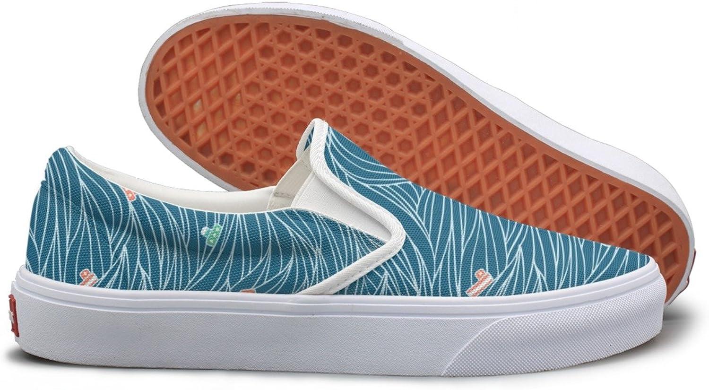 Dark Waves Pattern Canvas Slip On shoes For Women