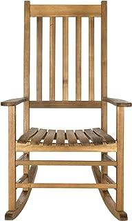 Safavieh Outdoor Living Collection Shasta Rocking Chair, Teak Brown