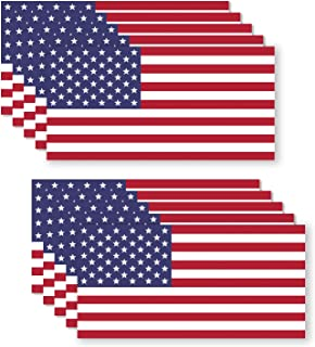 10 Pack USA American Flag Vinyl Decal Army Navy Tactical Military Country Weather-Resistant Bumper Stickers for Laptop, PC, Phone, Tablet, Baret, Helmet, Hat, Umbrella (1