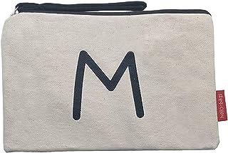 Hello-Bags B-002-M Bolso Neceser/Cartera de Mano. Algodón 100%. Blanco. con Cremallera y Forro Interior. 23 * 15,5 cm. Inc...