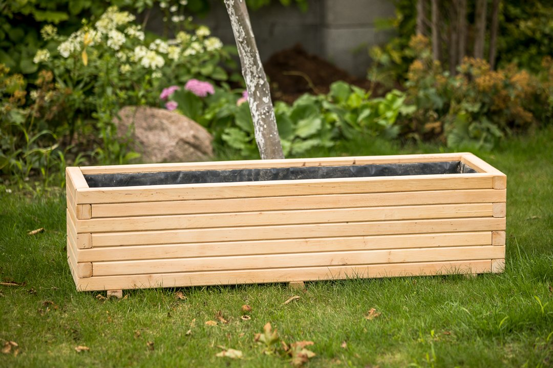 Maceta / Jardinera / Macetero de madera 40 hasta 120 cm.: Amazon.es: Jardín