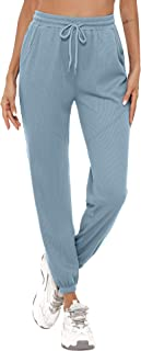Aibrou Pantaloni Sportivi Donna, Pantaloni Tuta Donna,Pantalone Donna Sportivo con Elastico in Vita Pantaloni Jogger Donna...