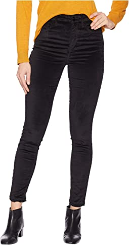 Stiletto High-Rise Ankle Skinny in Luxe Velvet