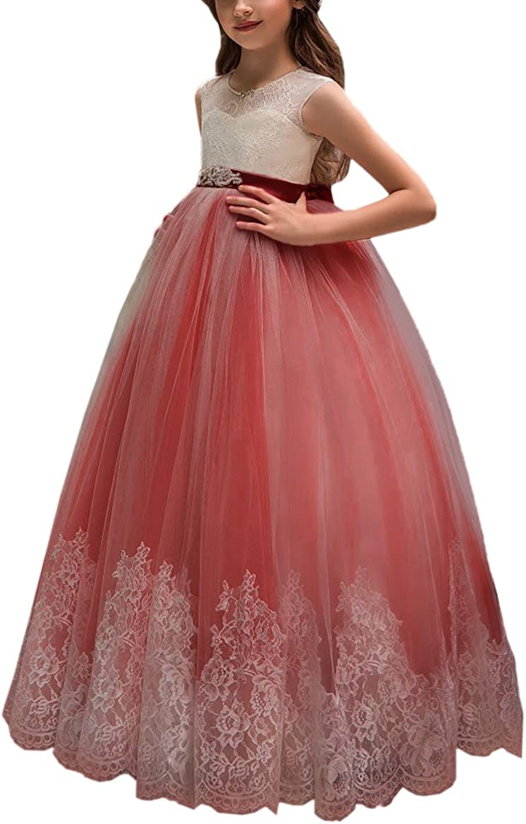 Flower Girl Max 77% OFF Dress Max 78% OFF for Wedding Kids Pageant Lace Ball Gowns