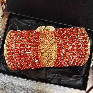 Fashion Women's Fashion Diamond Bag/Evening Bag/Banquet Clutch/Diagonal Package (Color : Red)