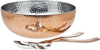 Godinger Hammered Bowl with server, Copper