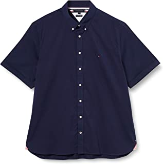 Tommy Hilfiger Slim Fine Twill Shirt S/S Camisa para Hombre
