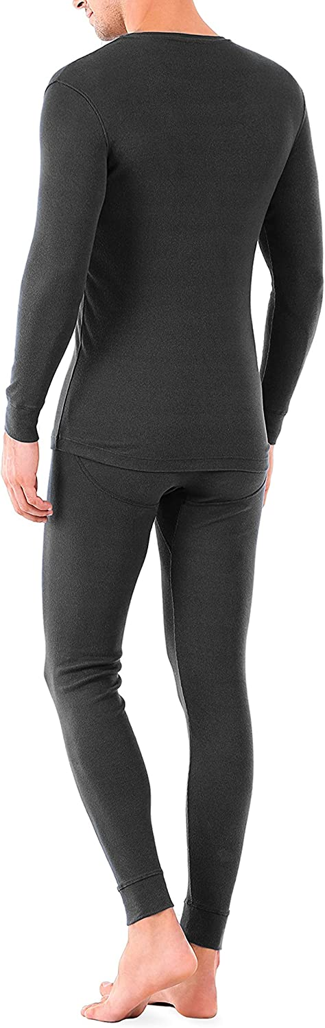 DAVID ARCHY Men's Thermal Underwear Soft Brushed Thermal Pants Bottoms Long Johns and Top Quick Dry Base Layer Set