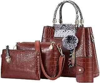 kangbaby Bolsos de Mujer Nueva Moda Bolso de Hombro de Gran Capacidad Bolso Casual de PU Bolsos Cuadrados portátiles Bolsos Retro @ Claro
