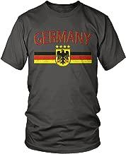 Amdesco Men's Germany Flag and Eagle Crest, German Flag T-Shirt