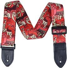 Correa KingPoint de poliéster para guitarra, 2 mm de grosor con terminaciones de cuero sintético, variedad de diseños, Picasso