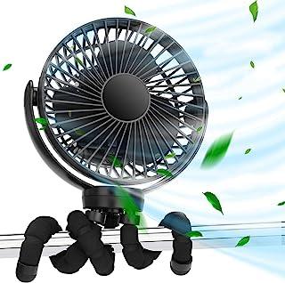Ventilador de clip de mano portátil de 5000 mah, ventilador de asiento de coche para bebé portátil personal con fijación d...