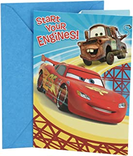 Hallmark Disney Cars Birthday Card for Kids (Lightning McQueen)