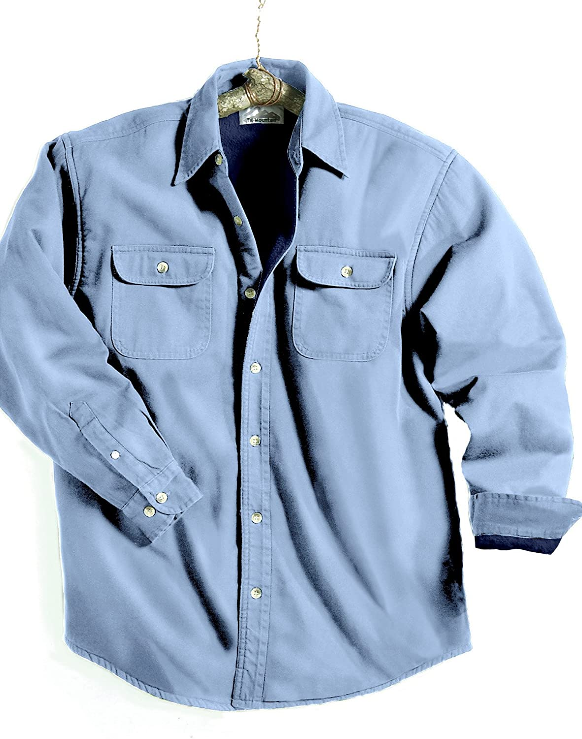 Tri-Mountain Big and Tall Denim Fleece Lined Shirt up to 6XT with